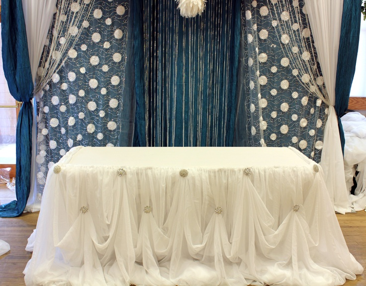 Cinderella Drape For Head Or Cake Table Draping