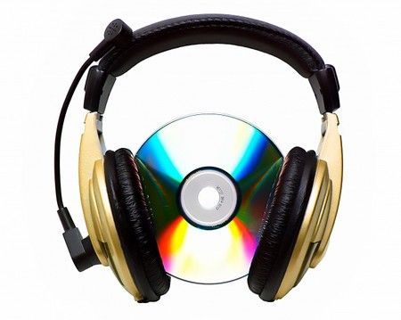 Use of two iconic images for music merged together to give an impression of the cd listening to music