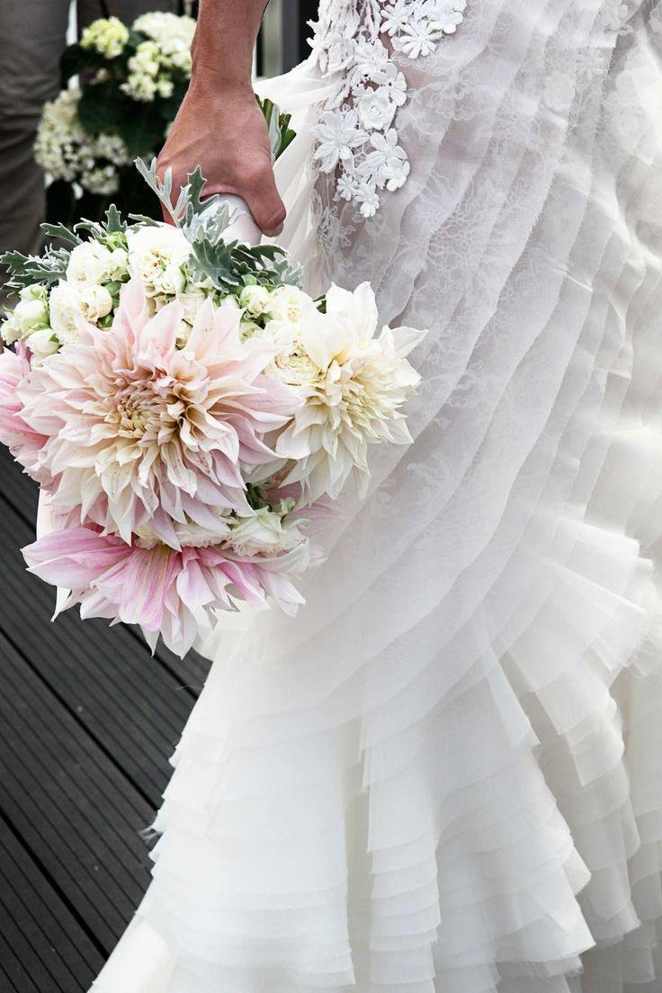 #Cymbeline #Gaya #Wedding #Dress #Dahlia #Flowers