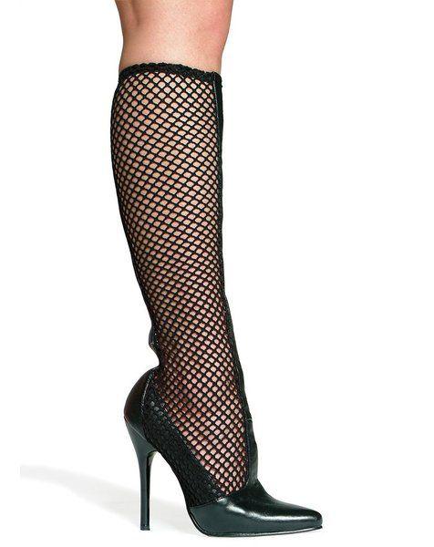 5 Inch Heel Knee High Fishnet Boot Women'S Size Shoe �54.99