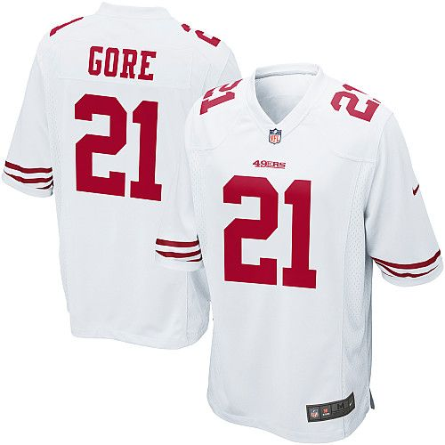 24f7ae15b Youth Nike San Francisco 49ers 21 Frank Gore Limited White NFL Jersey Sale  ...