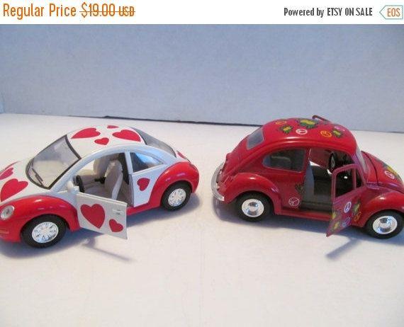 ONE WEEK QUICK Sale: Volkswagen Beetle Lot of 2 Vw Bug Cars by CellarDeals on Etsy