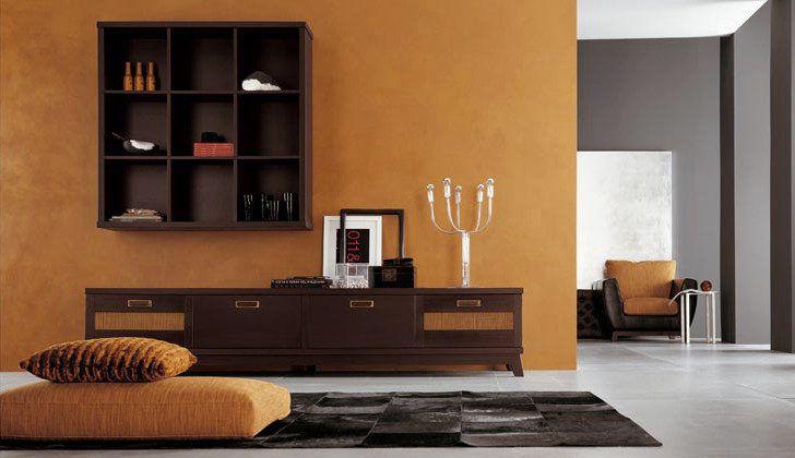 Pared naranja calabaza casas color mostaza colores de - Combina colores en paredes ...