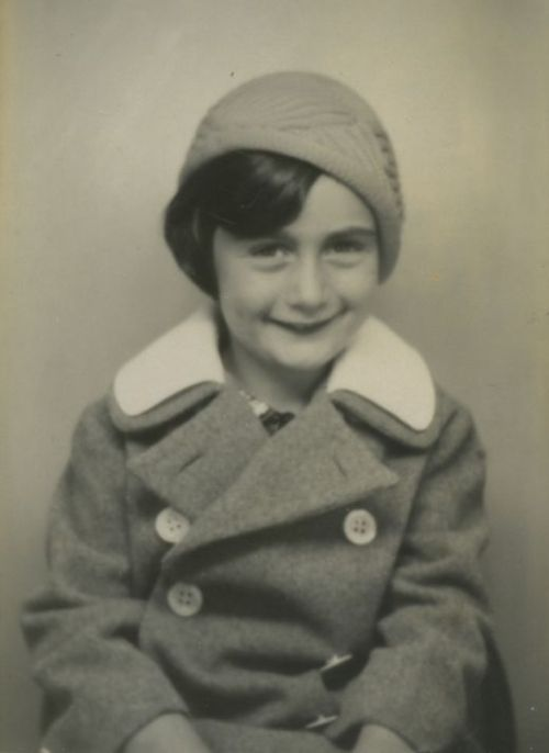 A portrait of Anne Frank taken at a photo booth in Aachen, Germany (Sept. 1934) • credit: Anne Frank Fonds in Basel Switzerland on Getty Images