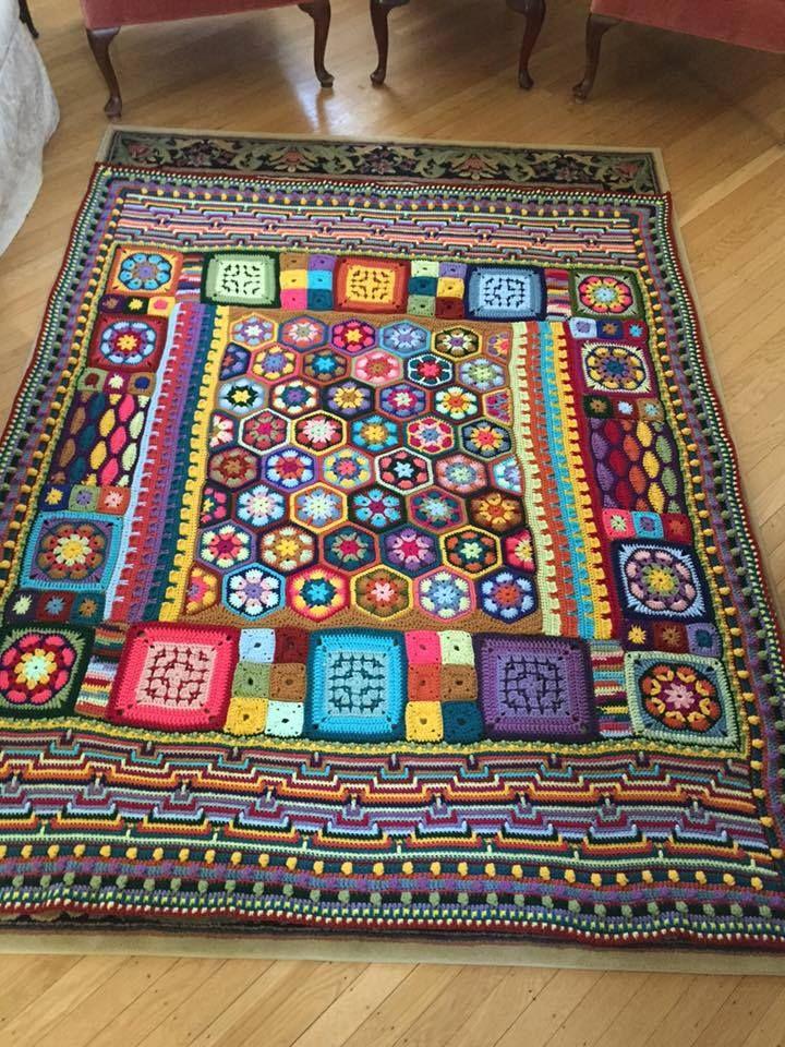 boho stash-busting blanket - Inspiration