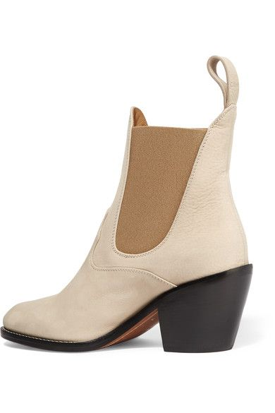 Chloé - Suede Ankle Boots - Beige - IT36.5