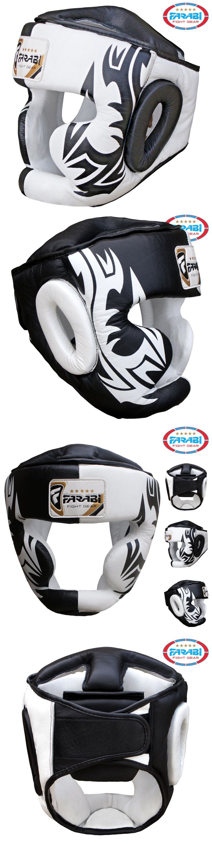 Head Gear 179780: Boxing Head Guard Geuine Leather Kick Boxing, Mma, Training Protector Chin Saver -> BUY IT NOW ONLY: $49.99 on eBay!