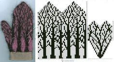 """mittens. Pattern: """"Deep in the Forest Mittens"""" by Tuulia Salmela (Ravelry download)"""