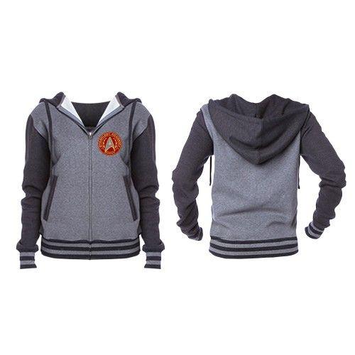 Who's gonna get this for me, please? Pretty pretty please? Star Trek Starfleet Academy Unisex Varsity Zip Hoodie | Star Trek Shop