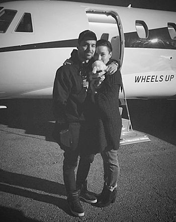 "Demi Lovato Posts ""Little Family"" Pic With Wilmer Valderrama, Puppy - Us Weekly"