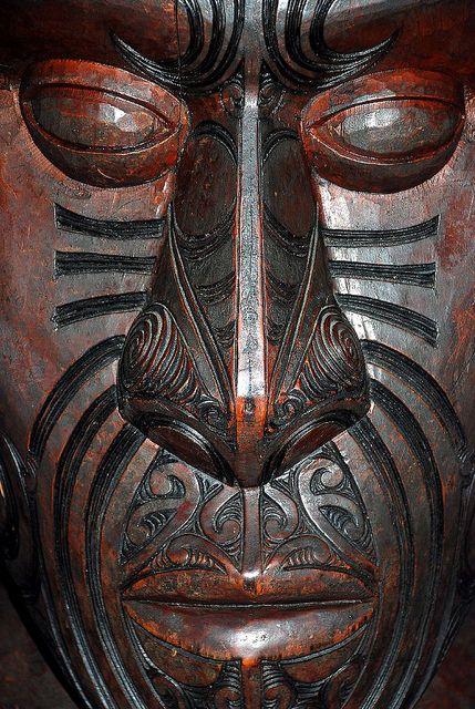 Maori Carving (Waitangi Treaty Grounds), Northland, New Zealand by geoftheref via Flickr