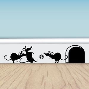 Funny Football Mice - Vinyl Wall Stickers for Walls, Doors & Skirting   eBay
