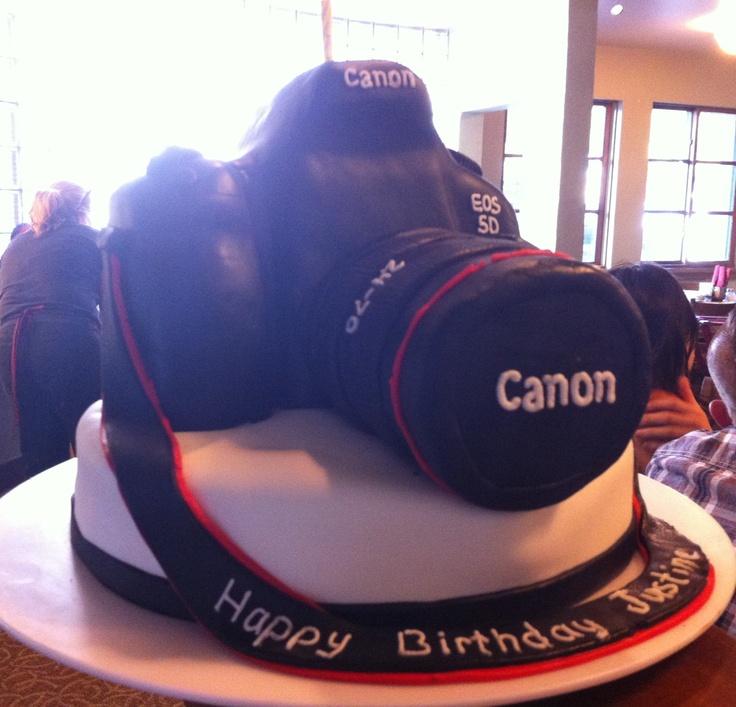 Amazing camera birthday cake.