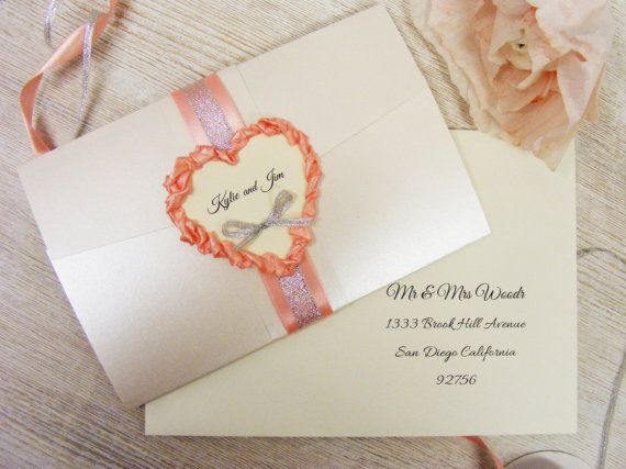 Glamour Wedding Invitation Personalized Wedding by HandMadeowo