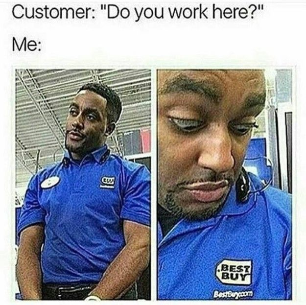 Your always invisible nametag: | 28 Pictures That Will Make Retail Workers Laugh Harder Than They Should