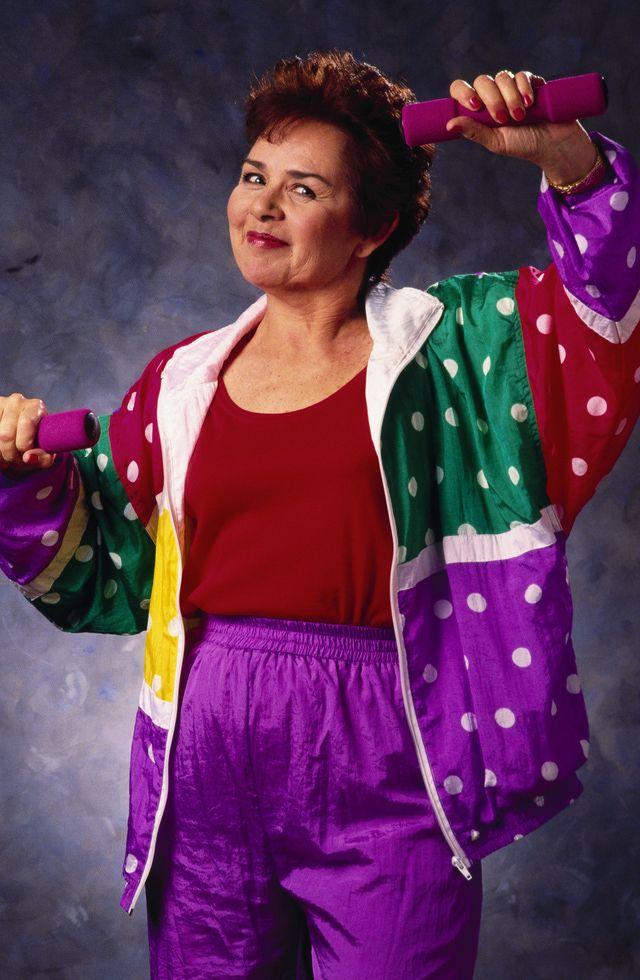 How to Dress Like a 1980s Aerobics Junkie: 15. Wear a multi-colored track suit