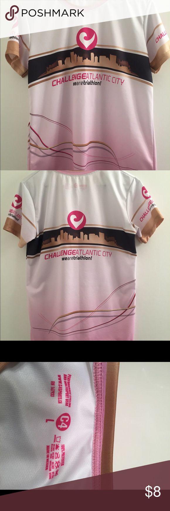 Atlantic City Women's Triathlon Shirt Performance Cycling and Multisport Shirt Tops Tees - Short Sleeve