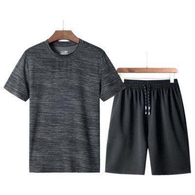 New Man Trend – Kurzärmliges T-Shirt mit O-Ausschnitt Schnelltrocknender Badeanzug mit kurzer Hose t0379