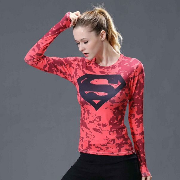 >> Click to Buy << Superman T-shirts Women Long Sleeve Fitness Absorb Sweat Woman T Shirt Compression Tops Camisetas Mujer Quick Dry #Affiliate
