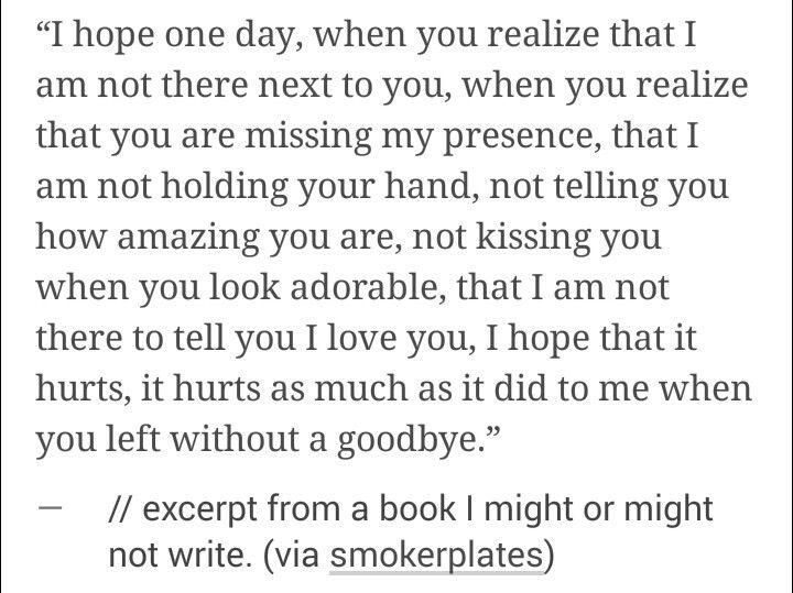 You left without a goodbye... -S