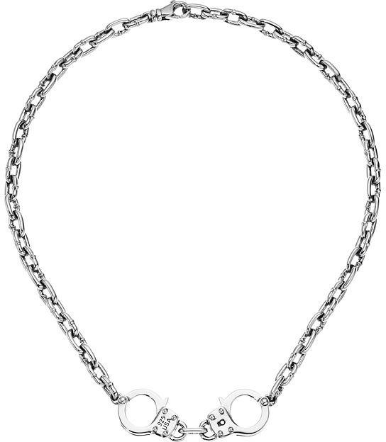 King Baby Studio Chain Choker w/ Handcuffs Necklace