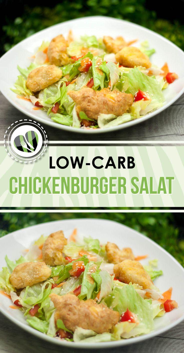 Aufgpimpter Chickenburger Salat – Leckere low carb Rezepte – schwarzgrueneszebra