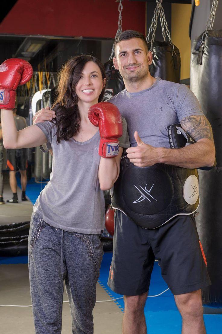 Při tréningu kikc boxu