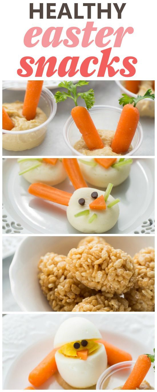 Healthy Easter Snacks! Perfect for class parties, play dates or if you just want to make something fun for the kids!