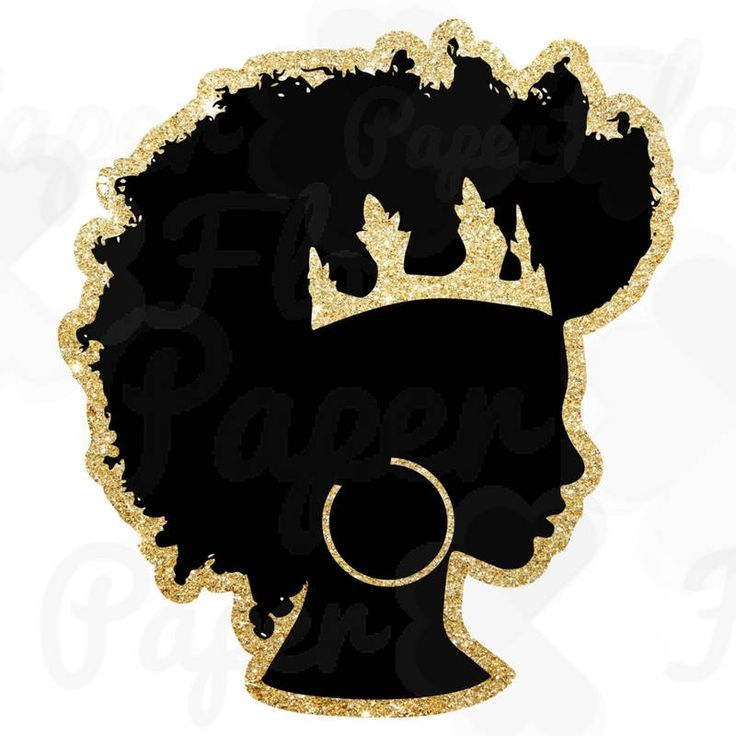 Crown Clipart Silhouette Png Afrocentric Png Afro Puff Girl Etsy Queen Art Black Girl Art Afro Art