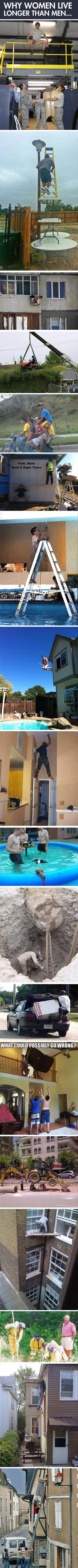 """Not really that funny.....""""Why women live longer than men"""" ...... pretty much DERP!"""
