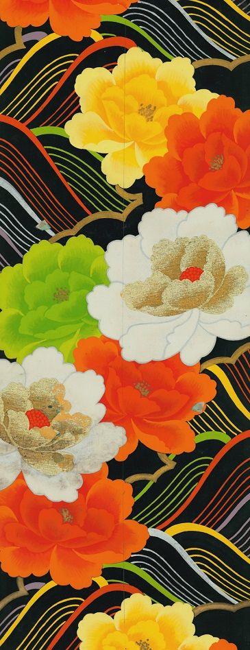 Japanese Obi art, c.1950