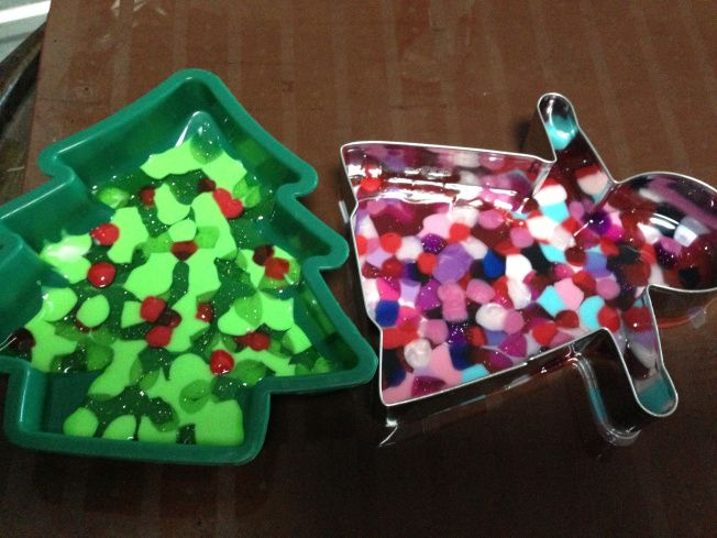 Melting Plastic Beads For Ornaments Christmas Fun