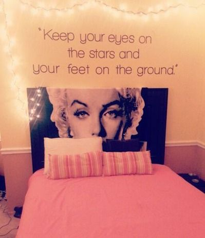 Keep your eyes on the stars and your feet on the ground.Lovee