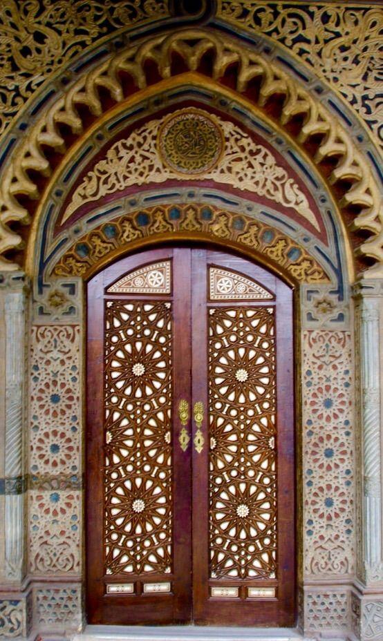 Cairo ornate wooden doors ~ Egypt