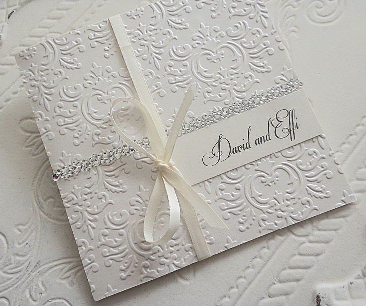 Embossed Wedding Invitations by www.bwreporter.com.au