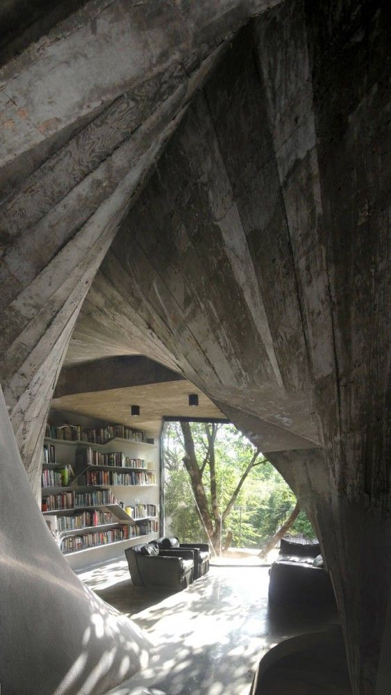 Archi-Union Tea House #Architecture #Interior DesignLibraries, Archie Union, Interiors, Book, Trees House, Architecture, Tea Houses, Teas House, Design