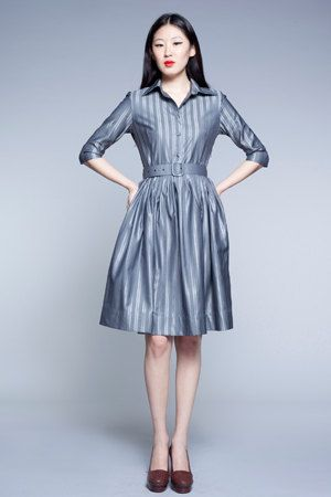 Custom Made Woolen Shirtwaist Dress by MrsPomeranz by mrspomeranz, £289.00  $479.00... cute bridesmaid dress though.