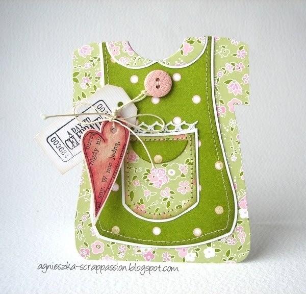 открытка-платье