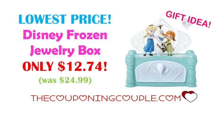 LOWEST PRICE! Girls will love to feel like Elsa with this Disney Frozen Jewelry Box for ONLY $12.74! Make sure your girl doesn't feel left out and get her one of these jewelry boxes.  Click the link below to get all of the details ► http://www.thecouponingcouple.com/disney-frozen-jewelry-box/ #Coupons #Couponing #CouponCommunity  Visit us at http://www.thecouponingcouple.com for more great posts!