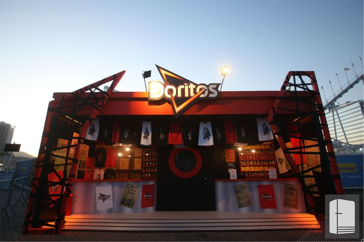Ativações Doritos na cidade do Rock. Casa Caucaia #cenografia #cenografiainteligente #doritos #bullet #rockinrio