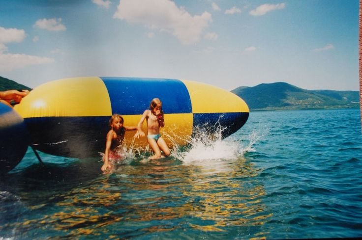 Water of Vico Lake & chldren:  . an ideal place for fun & play