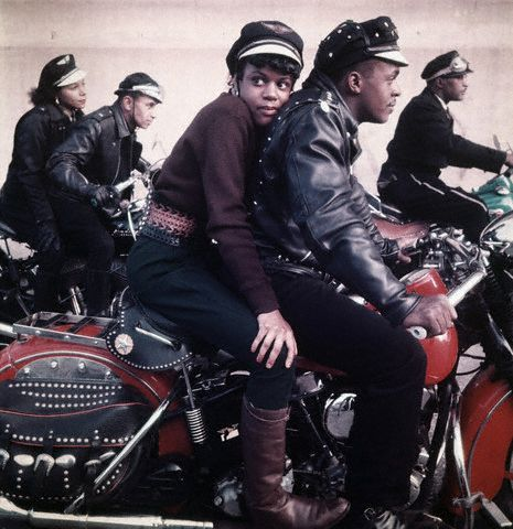 ca. 1959, Harlem, NY– Black Harlem Motorcycle Club –Image by © Norman Parkinson Limited/Corbis