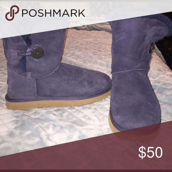 Navy Blue Uggs Fur on the inside! Navy Blue Ugg boots Shoes Winter & Rain Boots