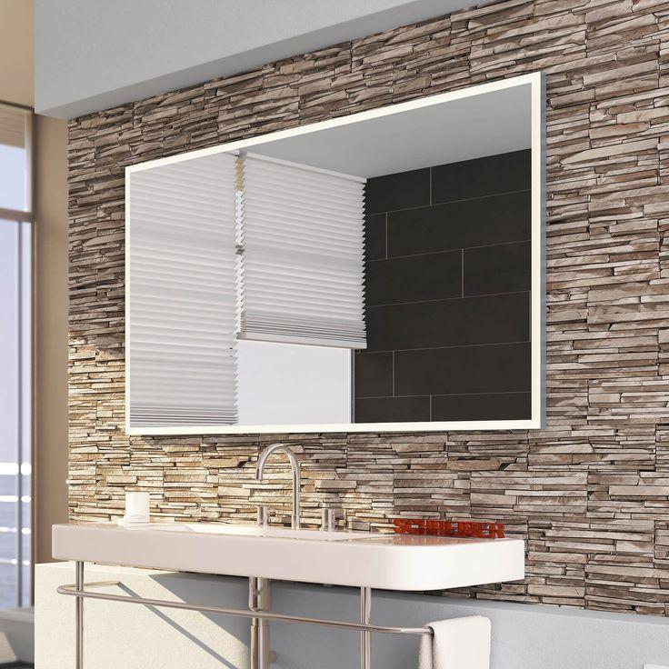 Neu Badspiegel Florenz LED 4S | Badspiegel mit Alurahmen beleuchtet CD57