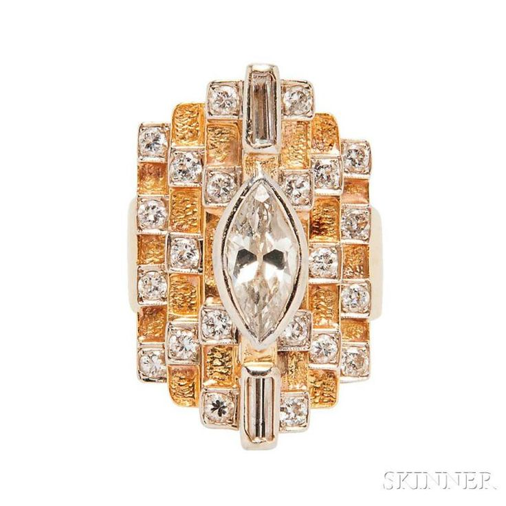 18kt Gold and Diamond Ring - Price Estimate: $1000 - $1500