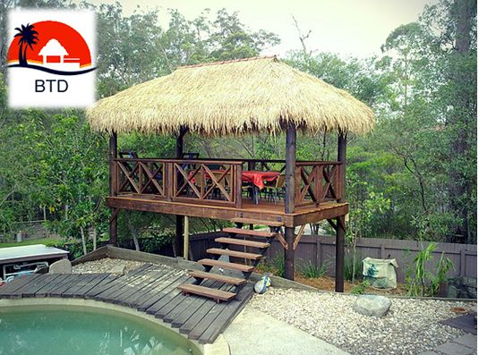 We at Brisbane Thatch and Decks are acknowledged for tropical lifestyle bali huts in Brisbane. Our over 15 years of experience have gradually taught us the fine craft of bali hut thatching. We have carved a niche in the area now. Our superior craftsmanship and quality work are unbeatable and impressive.