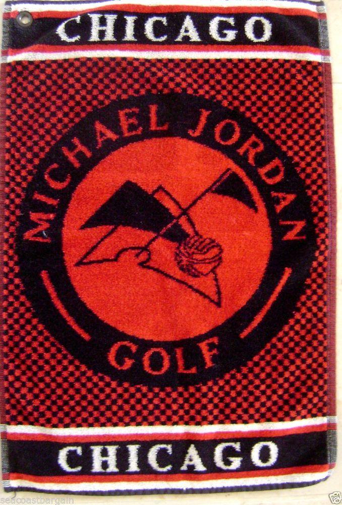 "Michael Jordan Chicago Golf Towel NBA Bulls Player RARE 21"" x 14"" Red Belguim #ChristopherHatton #ChicagoBulls"