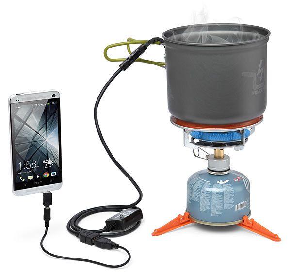 ThinkGeek :: PowerPot Thermoelectric Generator