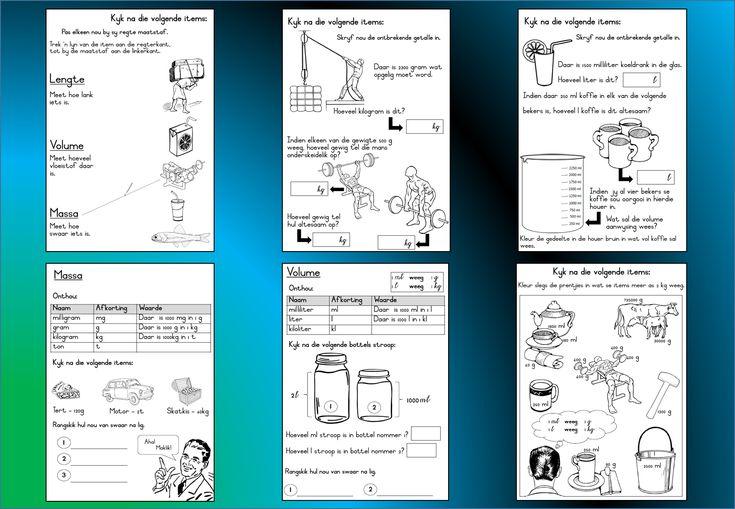 Grondslagfase aflaaibare Wiskunde Graad 3 werkkaart wat handel oor: Massa en Volume. Lekker speletjies en oefeninge.  Besoek gerus: https://teachingresources.co.za/vendors/komma-leer-en-leessentrum/