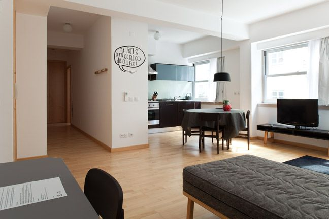 The Lisbonaire Apartments, available for holiday rental in Lisbon. Design details by João Maio Pinto, furniture by Pedrita. All apartments have a fully equipped kitchen.